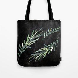 Eucalyptus leaves on chalkboard Tote Bag