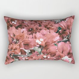 Coral Flowers Pattern Rectangular Pillow