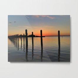 West End Boat Basin Sunset Metal Print