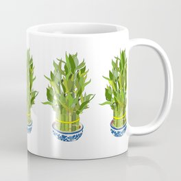 Lucky Bamboo in Porcelain Bowl Coffee Mug