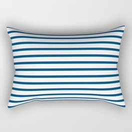 Sailor Stripes Navy & White Rectangular Pillow