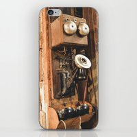 telephone iPhone & iPod Skins featuring Telephone by Imaginatio