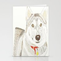 husky Stationery Cards featuring Husky by Lee Watson