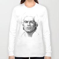 dexter Long Sleeve T-shirts featuring Dexter Morgan  by Olechka