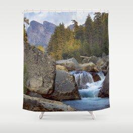 Yosemite Fall Color Shower Curtain