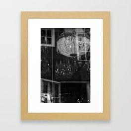 Silhouettes Mingle Framed Art Print