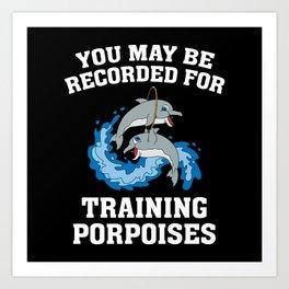 Training Porpoises Art Print