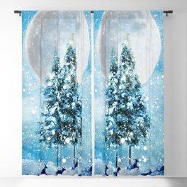 Winter Night 4 Blackout Curtain