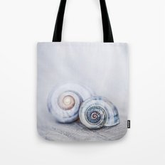 Blue Shells in soft pastel Blues Tote Bag