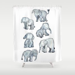 Little Elephants Shower Curtain