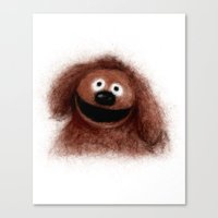 muppets Canvas Prints featuring Rowlf, The Muppets by KitschyPopShop