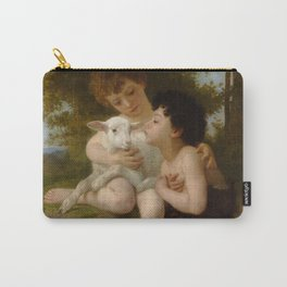 """William-Adolphe Bouguereau """"Les Enfants à L'Agneau (Children With the Lamb)"""" Carry-All Pouch"""
