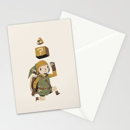 triforce power up Stationery Cards