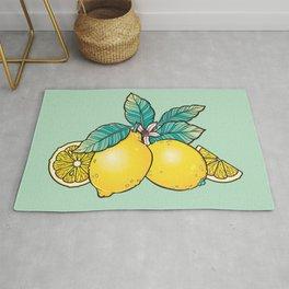 Lemons and Leaves Rug