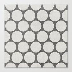 gray and white polka dots Canvas Print