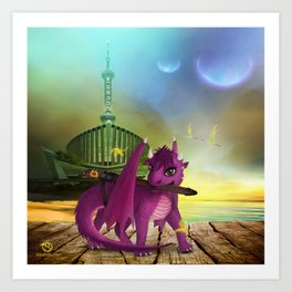 Dragonlings of Valdier: Jade Art Print