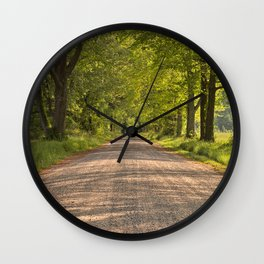 Wye Island Canopy Road Wall Clock