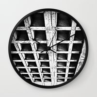 concrete Wall Clocks featuring Concrete by Cobo