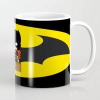 batgirl Mugs featuring Chibi Batgirl by artwaste