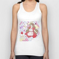 bee and puppycat Tank Tops featuring Bee & puppycat ver 1 by Kurodoj