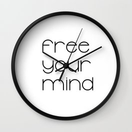 Free Your Mind (Black) T-Shirt Wall Clock
