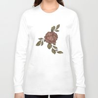 rose Long Sleeve T-shirts featuring Rose by Jessica Roux