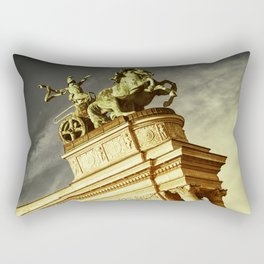 Statue of War on the Heroes Square in Budapest Rectangular Pillow