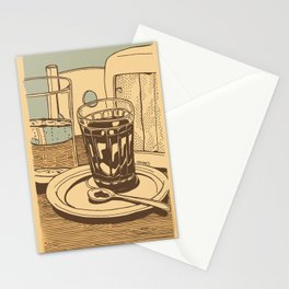 Blue coffee Stationery Cards