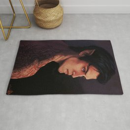 Rhysand Rhys Court of Thorns and Roses portrait Rug