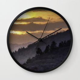 Valley Sunset Wall Clock