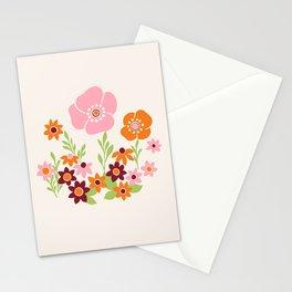 Pretty Retro Floral Stationery Cards