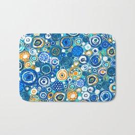 Lost Marbles - Blue Bath Mat