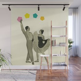 Throwing Shapes on the Dance Floor Wall Mural