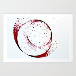 Dots work Art Print