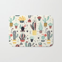Cacti in a Flower Pot Bath Mat