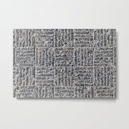 concrete tiled Metal Print