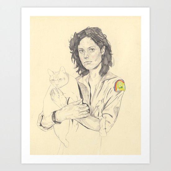 wip of Ripley with Jones Art Print