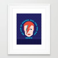 heroes Framed Art Prints featuring Heroes by Gigglebox