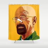 heisenberg Shower Curtains featuring Heisenberg by Stan Pro