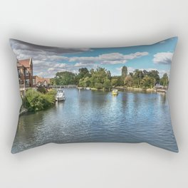 From Windsor Town Bridge Rectangular Pillow