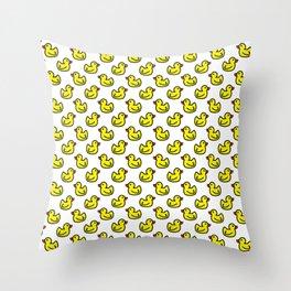 Rubber Ducks Throw Pillow