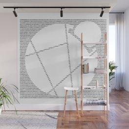 Binary Reddcoin Wall Mural