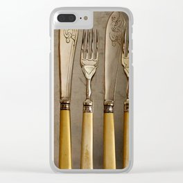 Vintage Cutlery - Kitchen Decor Clear iPhone Case