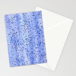 Blue Spray and Flecks Stationery Cards