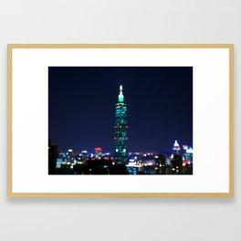 Taipei Nightscape Framed Art Print