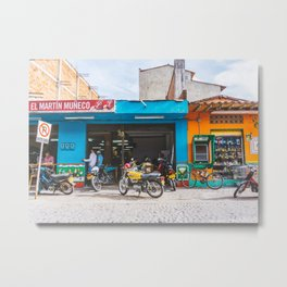 On the Street, Guatape, Colombia Metal Print