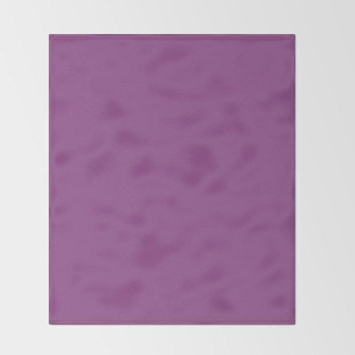Plum Purple Solid Color Throw Blanket