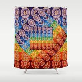 7 CHAKRA SYMBOLS OF HEALING ART #2 Shower Curtain