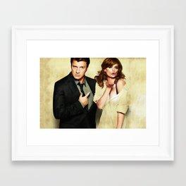 Richard Castle and Kate Beckett Framed Art Print