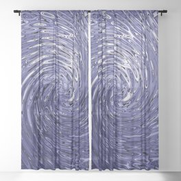 Whirlpool of Blue Sheer Curtain